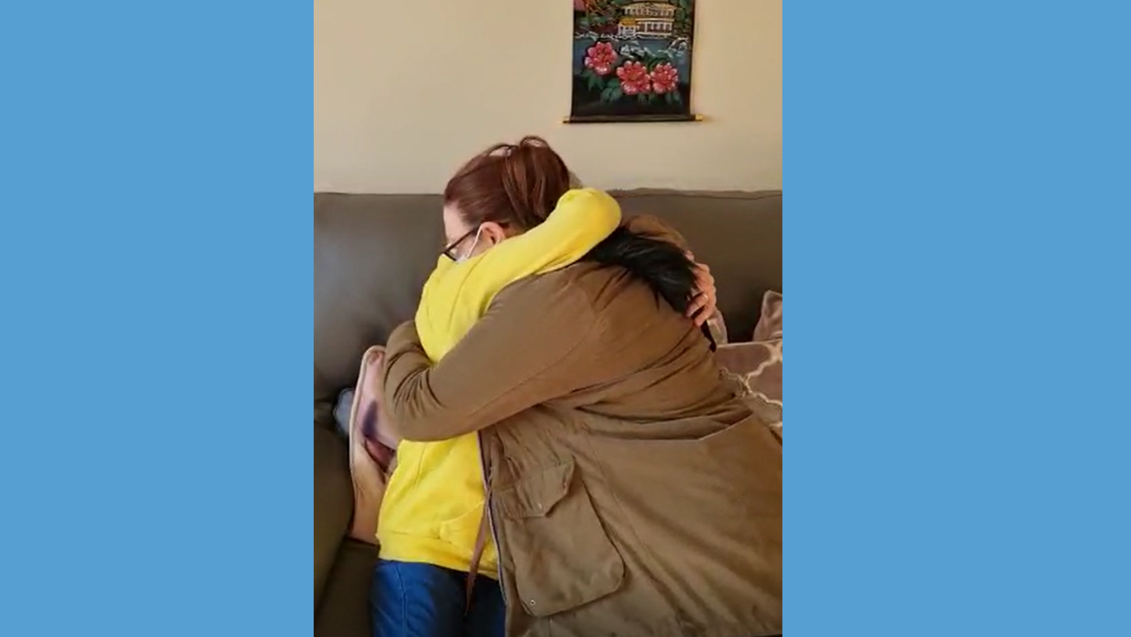 Care staff reunite mother and daughter