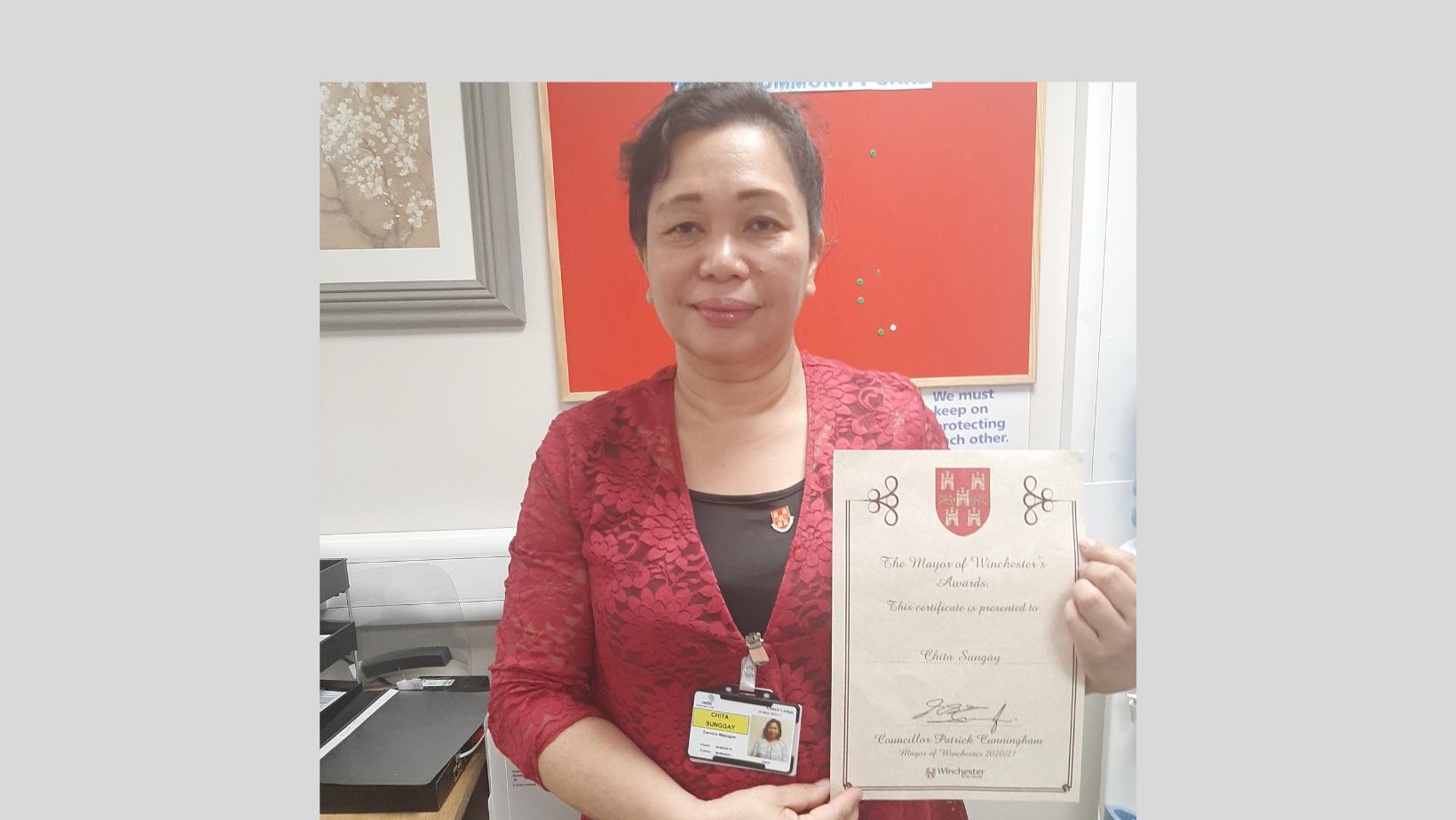 Mayor's award for Radis manager